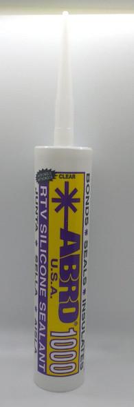 SILICONE ABRO 10 OZ CLEAR USA YELLOW TUBE