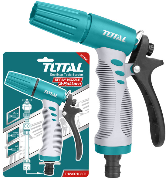 HOSE NOZZLE TOTAL THWS010301 SPRAY 3 PATTERN