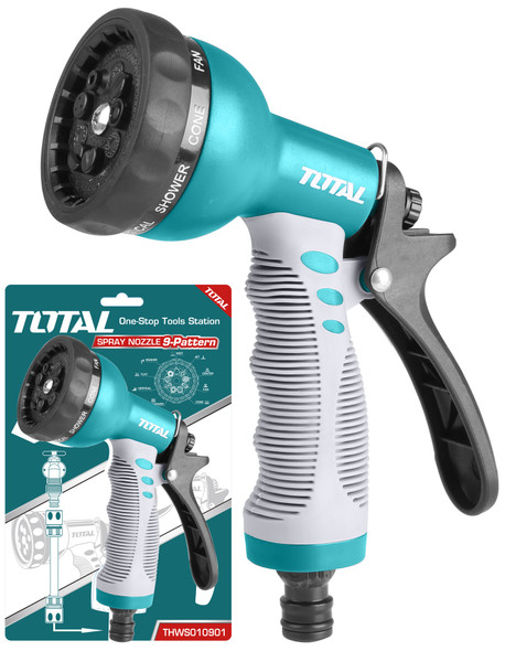 HOSE NOZZLE TOTAL THWS010901 SPRAY 9 PATTERN