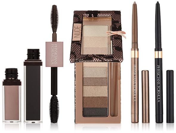 Makeup Nude Eyes Kit Physicians Formula Shimmer Strips Custom Eye Enhancing Kit with Eyeshadow, Eyeliner & Mascara