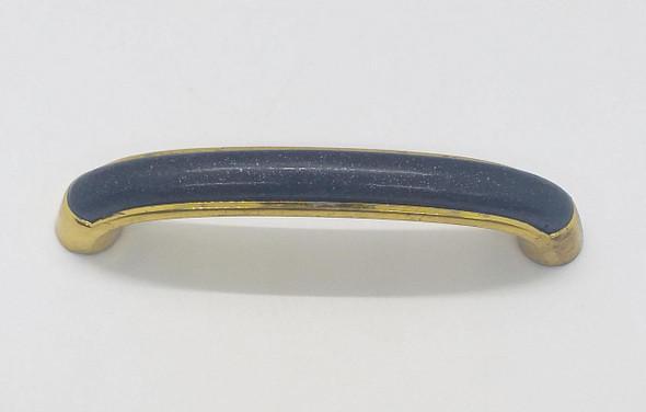 DRAW HANDLE CURVE Y11896 BLACK & GOLD