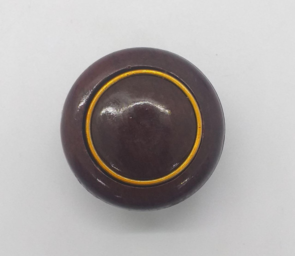 DRAW KNOB 107 BURGUNDY W/GOLD RING