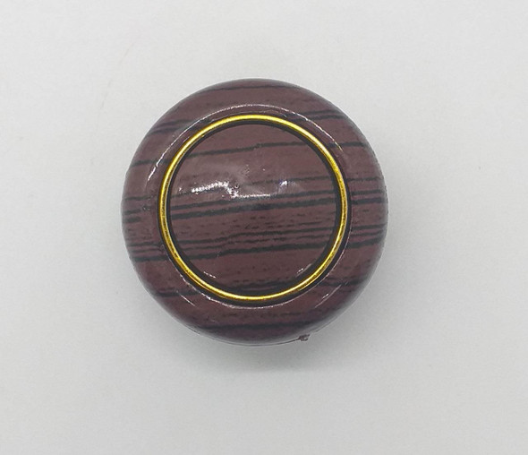 DRAW KNOB 107 DARK BROWN W/GOLD RING
