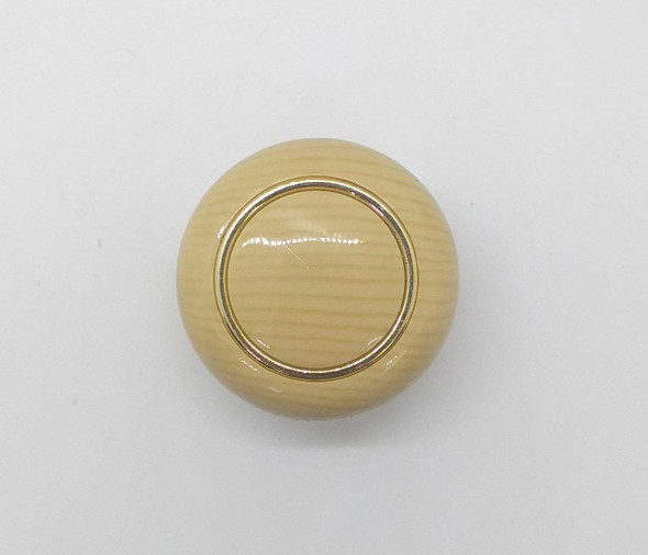 DRAW KNOB 107 CREAM W/GOLD RING