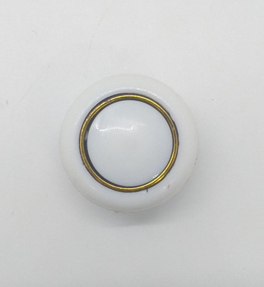 DRAW KNOB 107 WHITE W/GOLD RING