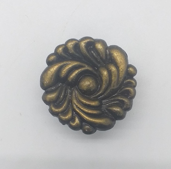 DRAW KNOB 15874 BRASS FLOWER DESIGNED