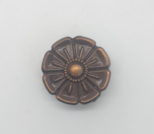 DRAW KNOB 15888 BRONZE FLOWER SM