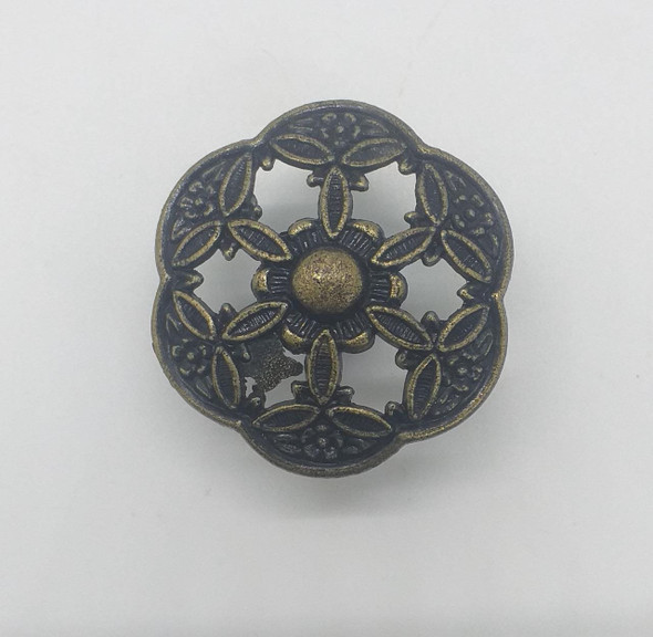 DRAW KNOB 15891 ANTIQUE BRONZE FLOWER DESIGNE