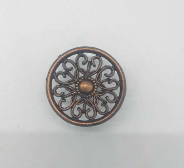 DRAW KNOB FLOWER BROWN 1195