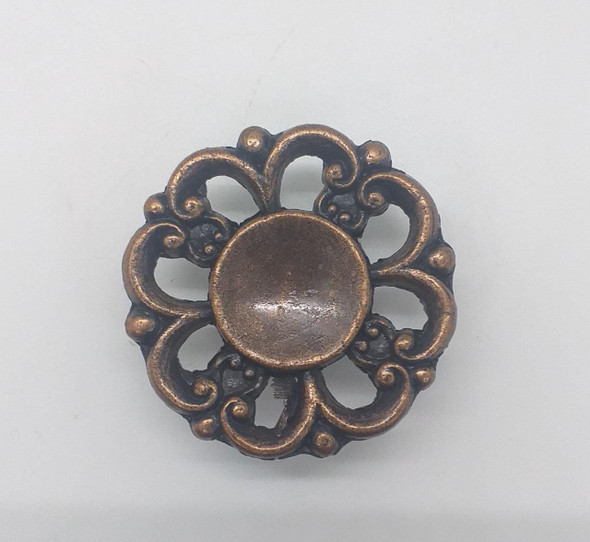 DRAW KNOB GOLD FLOWER 903 LG