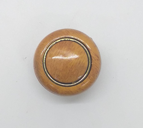 DRAW KNOB LIGHT BROWN & GOLD RING