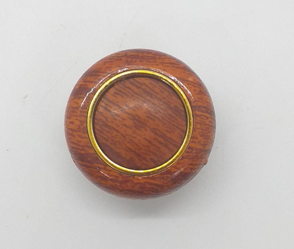 DRAW KNOB 107 POLISH W/GOLD RING