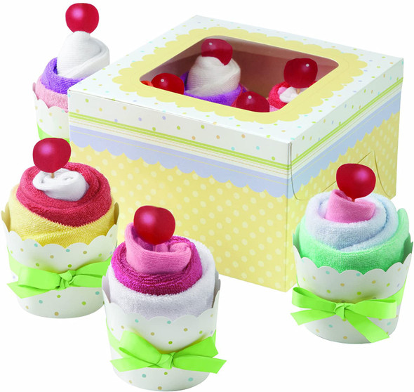 BAKING WILTON CUPCAKE BOXES 8PCS LAYETTE KIT 1004-1428