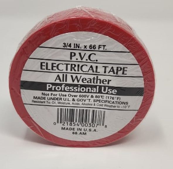 """INSULATION TAPE PVC 3/4"""" 66' RED"""
