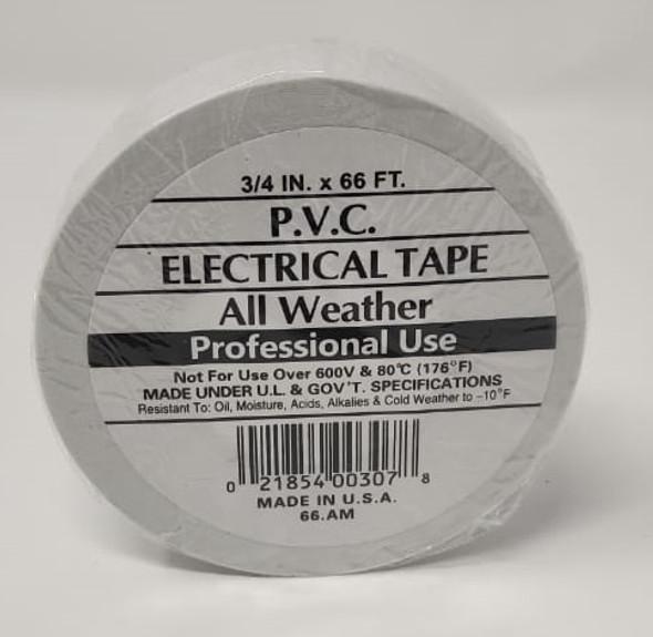 "INSULATION TAPE PVC 3/4"" 66' WHITE"