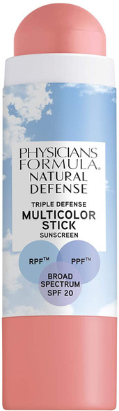 Makeup Physicians Formula Natural Defense Triple Defense Multicolor Stick with SPF 20 Soft Pink 0.26oz
