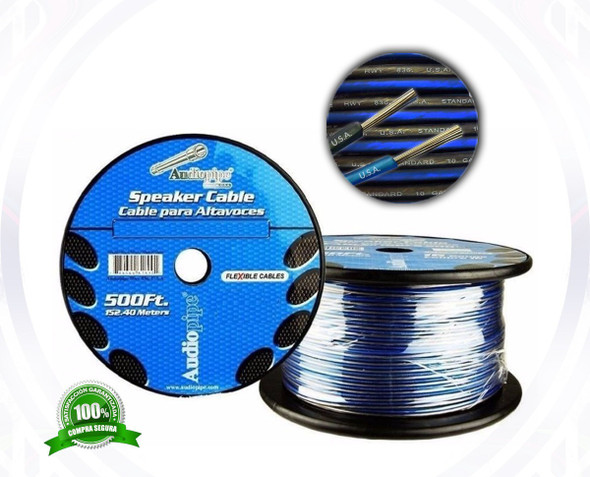 SPEAKER WIRE 12G YDS CABLE 12-500 BLS AUDIO PIPE FLEXABLE PER YARD