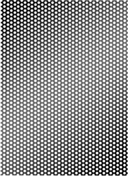SPEAKER GRILL 2X4' GR-24BLK 1.2MM BLACK FINISH