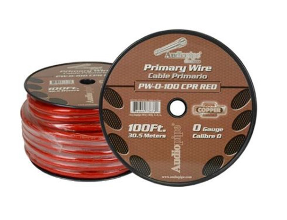 POWER CABLE CAR 0G YDS PW-0 CPR-100 RED AUDIO PIPE SOLD PER YARD