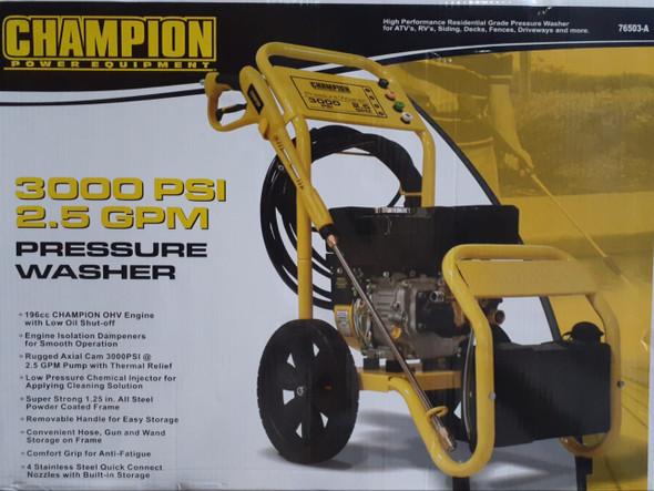 PRESSURE WASHER CHAMPION 3000PSI YELLOW 76503-A