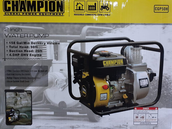 "WATER PUMP 2"" CHAMPION CGP50H"