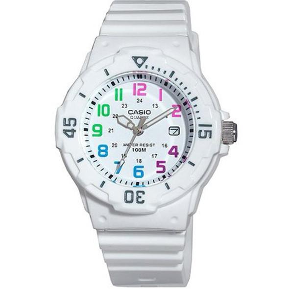 Watch Women Casio White Sports Analog LRW200H-7BVCF