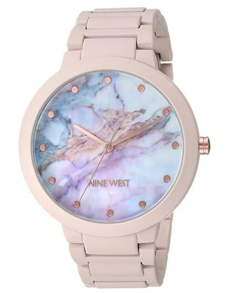 Watch Women Nine West Rubberized Bracelet Watch