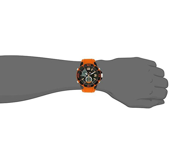 Watch U.S. Polo Assn. Sport Men's US9483 Sport with Orange Silicone Band