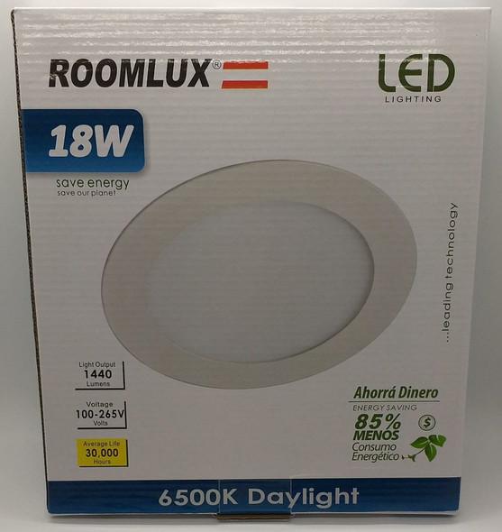LIGHT LED PANEL ROOMLUX 18W ROUND FLAT 6500K B29705 100-265V