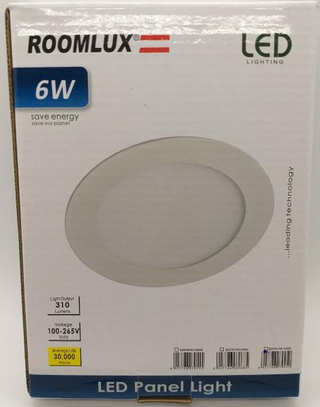 LIGHT LED PANEL ROOMLUX 6W ROUND FLAT 3000K B29705 100-265V