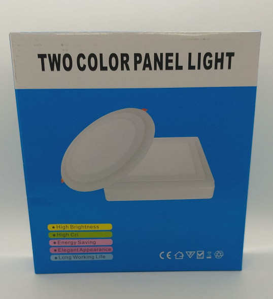 LED PANEL LIGHT 2 COLOR 12W+4W FITZGERALD BLUE BOX