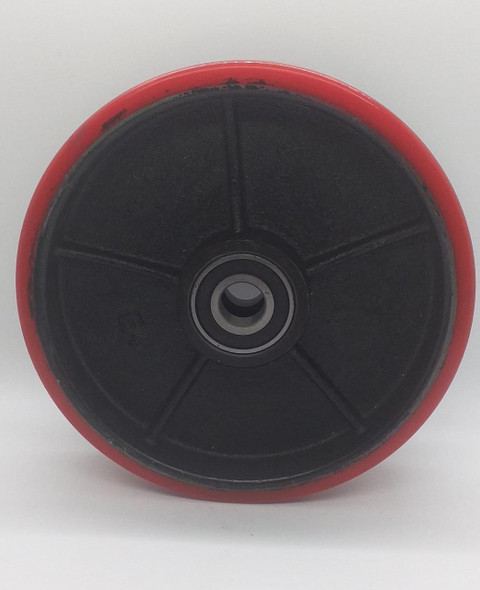 """WHEEL 8"""" RED A1/A2 HEAVY BEARING TYPE"""