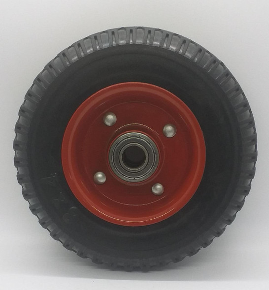 """WHEEL 8"""" X 4"""" RED 250-4 SOLID"""