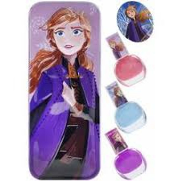 Toy Disney Frozen 2 Townley Girl Princess Anna Purse with 3 Pack Nail Polish Set
