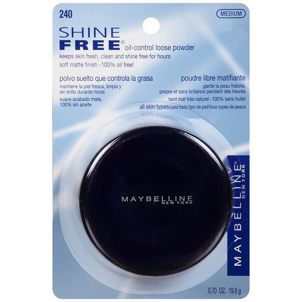 Makeup Powder Maybelline New York Shine Free Oil-Control Loose Powder Medium 0.7oz