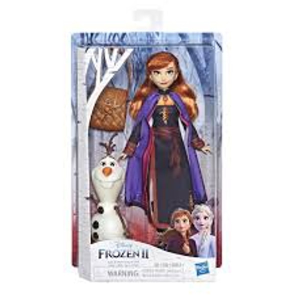 Toy Disney Frozen II Anna Doll With Buildable Olaf Figure and Backpack Accessory