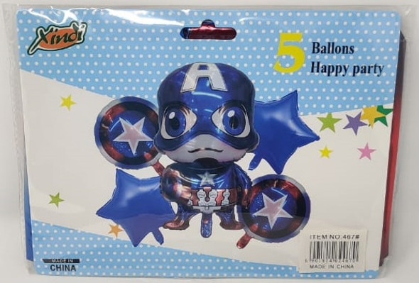 PARTY BALLOONS CHARACTERS 5PCS PACK 467 XINDI FOIL