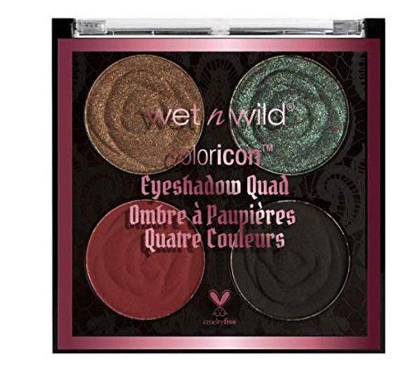 Makeup Eyeshadow Quad wet n wild Rebel Rose Color Icon