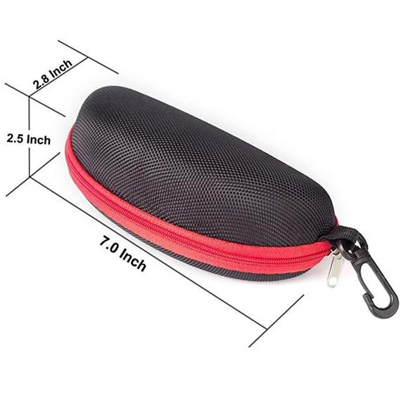 Sunglasses Case RayLove Portable Travel Zipper Eyeglasses Case Hook