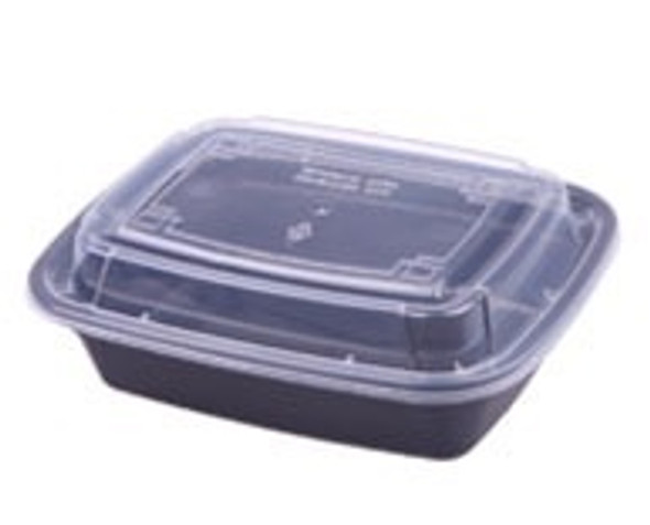 FOOD BOWL BLACK WITH LID XUELI 9618