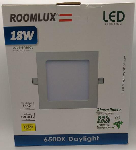 LIGHT LED PANEL ROOMLUX 18W SQ FLAT 6500K