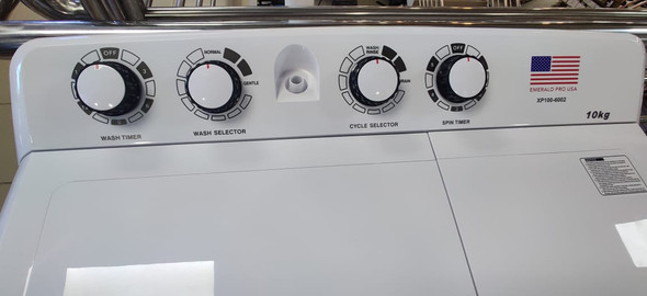 WASHING MACHINE EMERALD XP100 10KG TWIN TUB