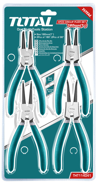 PLIERS SET TOTAL 4PCS CIRCLIP THT114041