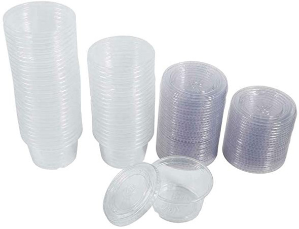 FOOD TASTING / SAMPLE CUPS WITH LID 1oz 50PCS PACK 40080