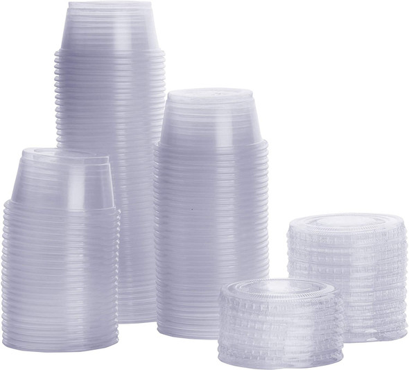 FOOD TASTING / SAMPLE CUPS WITH LID 3.25oz 20PCS PACK 400102
