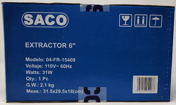 "FAN 6"" EXTRACTOR SACO 04-FR-15409"