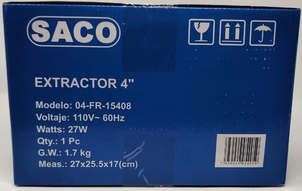 "FAN 4"" EXTRACTOR SACO 04-FR-15408"