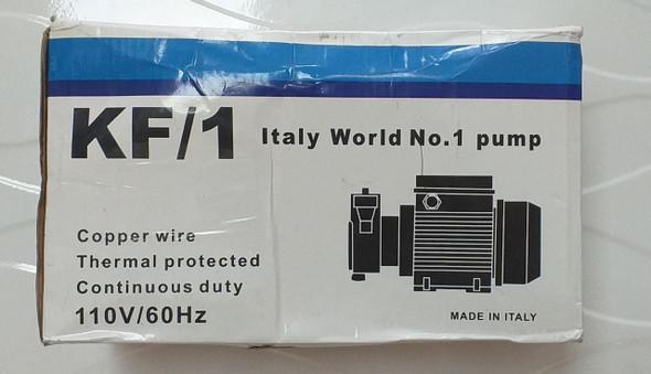 WATER PUMP ITALY WORLD #1 KF/1 110/220
