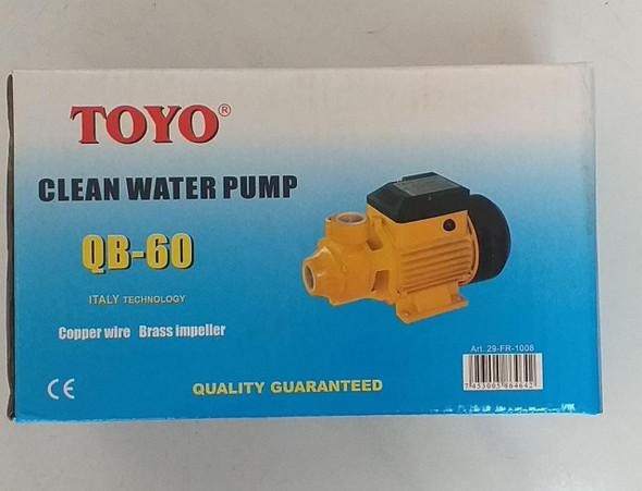 WATER PUMP TOYO QB60 110V W/CORD