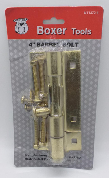 """TOWER BOLT 4"""" BOXER BRASS #NT1372-4"""
